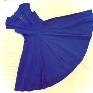 1950s AUDREY HEPBURN VINTAGE SWING DRESS M